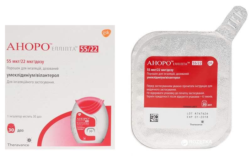 2001 АНОРО™ ЕЛЛІПТА™ - Vilanterol and umeclidinium bromide