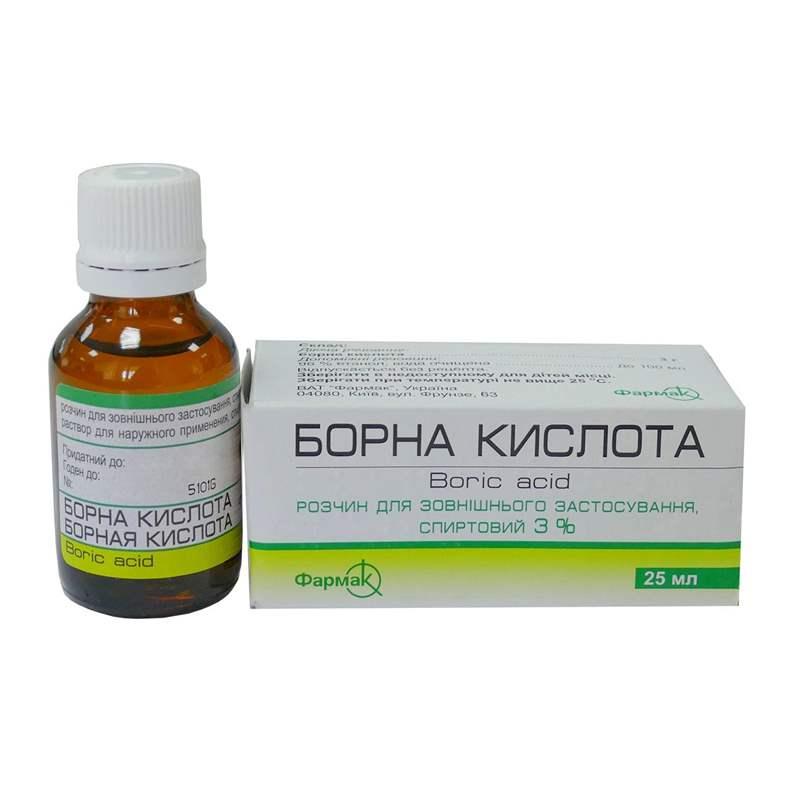 3568 БОРНОЇ КИСЛОТИ РОЗЧИН СПИРТОВИЙ 2 % - Boric acid
