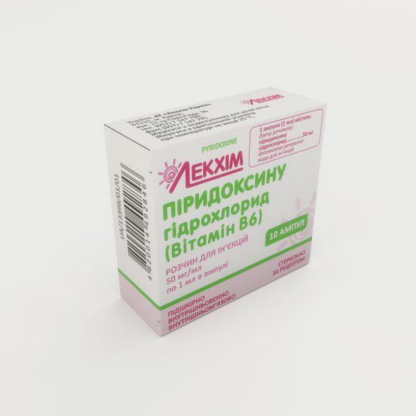 17735 ПІРИДОКСИНУ ГІДРОХЛОРИД - ЗДОРОВ`Я - Pyridoxine (vit B6)
