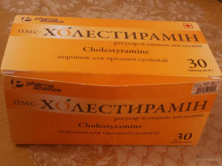 17836 ПМС-ХОЛЕСТИРАМІН РЕГУЛАР ЗІ СМАКОМ АПЕЛЬСИНА - Colestyramine